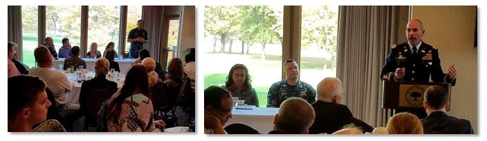 The SAME Lake Michigan and Chicago Posts welcomed Marianne Markowitz, Regional Administrator, Midwest, US Small Business Administration (SBA), Ann Kalayil, Regional Administrator, General Services Administration (GSA) Region 5, LTC Jason Borg, Deputy District Commander, USACE Chicago, Cmdr. Carl Kirar, Public Works Officer, NAVFAC MIDLANT & William A. Massie Jr, Chief, Acquisition and Assistance Branch, Environmental Protection Agency (EPA), Resource Management Division, Region 5 to their annual joint meeting on November 3rd, 2016.