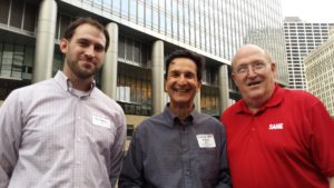 Joe Smetak, Anthony Bilotti & Jim Hagan at the Chicago Post Boat Cruise